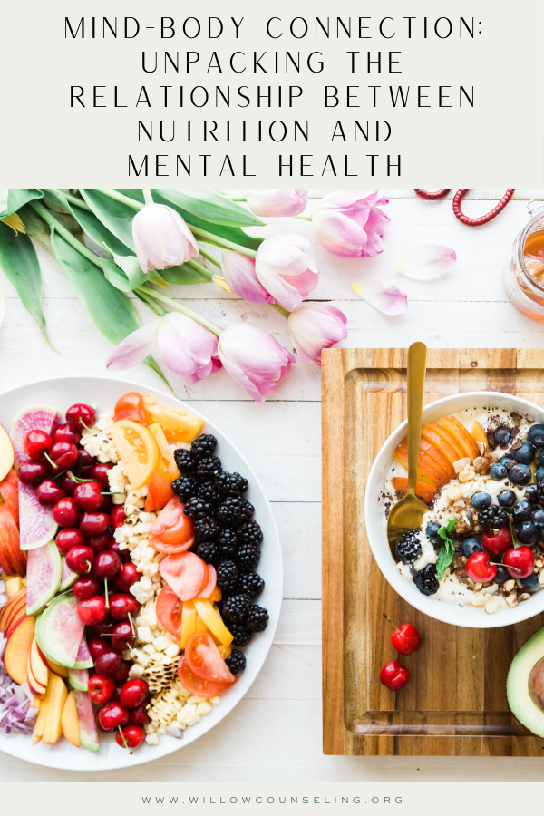 nutrition and mental health, food and mental health, mind-body connection, mind-body relationship
